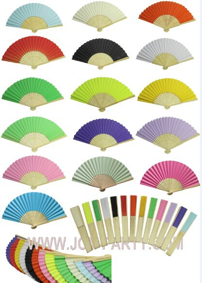 50pcs L21*W37cm Paper Hand Fan wedding decoration party favor promotion gifts DIY paper crafts(China (Mainland))
