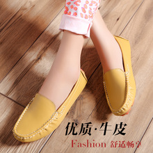 Spring Moccasins driving shoes skull pirates of the single shoes genuine leather women's shoes 6639(China (Mainland))