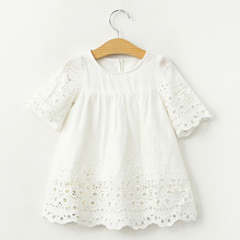 2017 Spring Summer Baby Girls Blouses White Lace Hollow Tops Kids Shirts Cute Sweety Baby Gilrs Shirt Casual Children Clothing(China (Mainland))