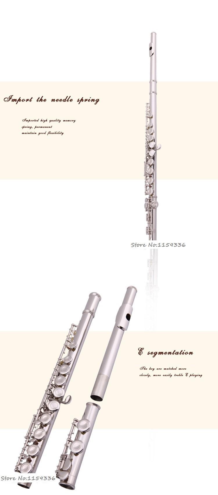 Флейта Ebene spielen Fl te, 16 e Schl ssel vernickelt Fl te, freies Verschiffen c Fl te
