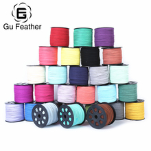 Buy GUFEATHER DIY 115 colors suede corde choker Faux Suede jewelry findings leather bracelet material flat leather cord 3mm for $9.60 in AliExpress store