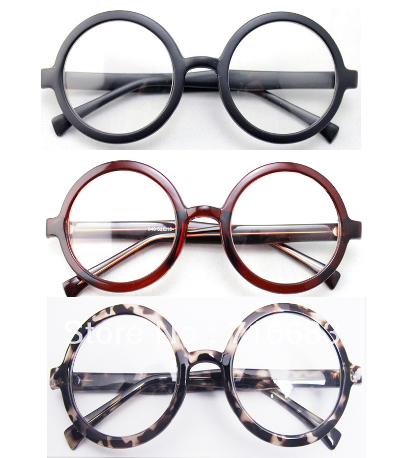 Round Glasses No Frame : Large-Size-Oversized-Retro-Vintage-Harry-Potter-Round ...