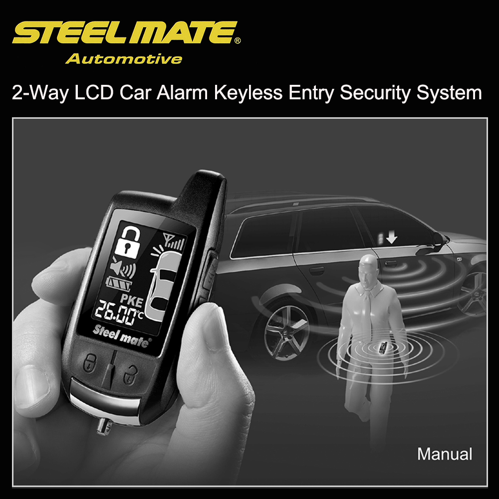 Steelmate 888E Two Way LCD Car Alarm Keyless Entry Security System(China (Mainland))