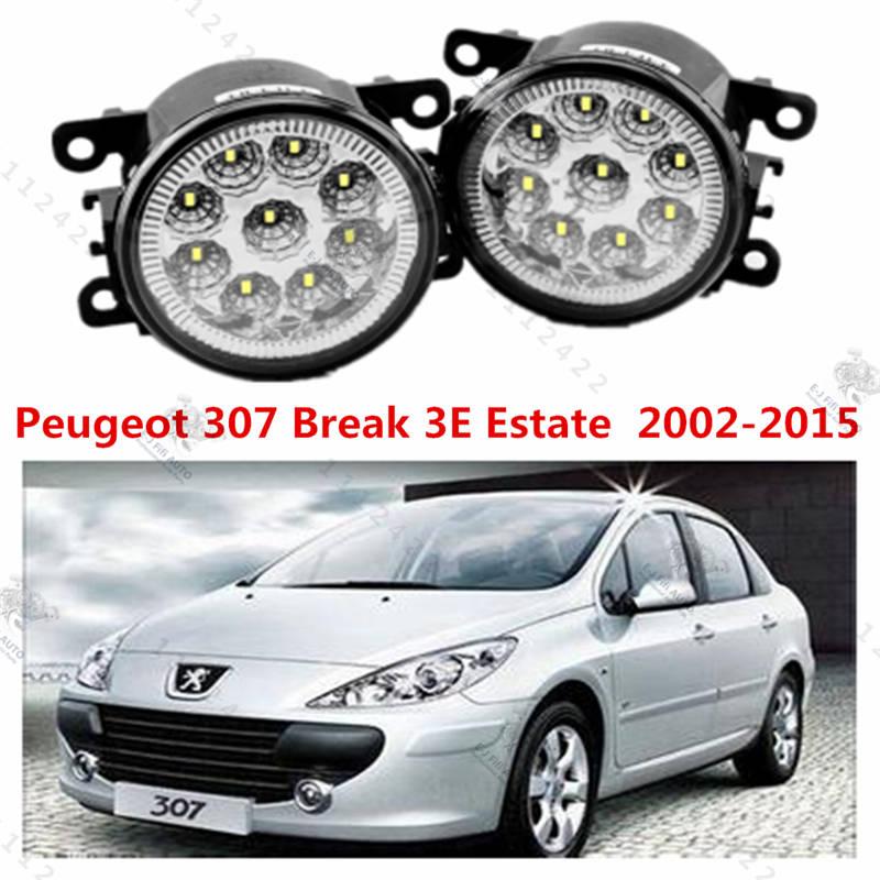for Car styling front bumper high brightness LED Fog lights Peugeot 307 Break 3E Estate  2002-2015 car led fog lamps  1set