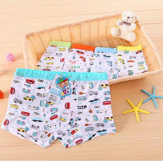 1pc/lot cartoon modal underwear children 's print car underwear boys cotton modal briefs wholesale (NT-014)(China (Mainland))