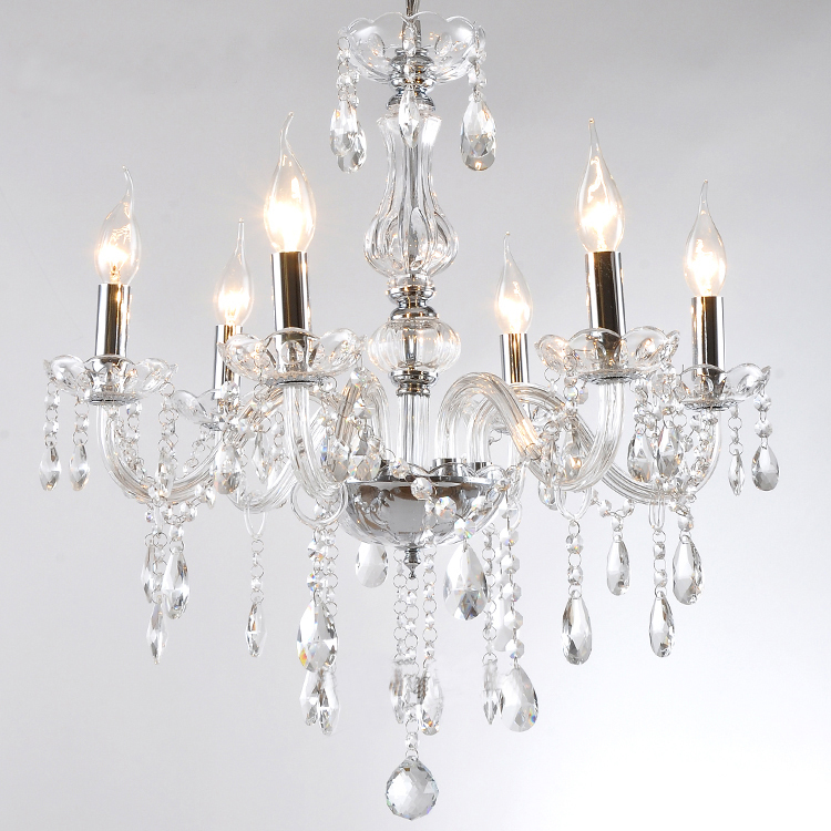 discount 5 6 bulb european candle crystal chandeliers light ceiling