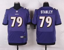 Baltimore Ravens #89 Steve Smith Sr #79 Ronnie Stanley Elite White Black Alternate and Purple Team Color High quality(China (Mainland))