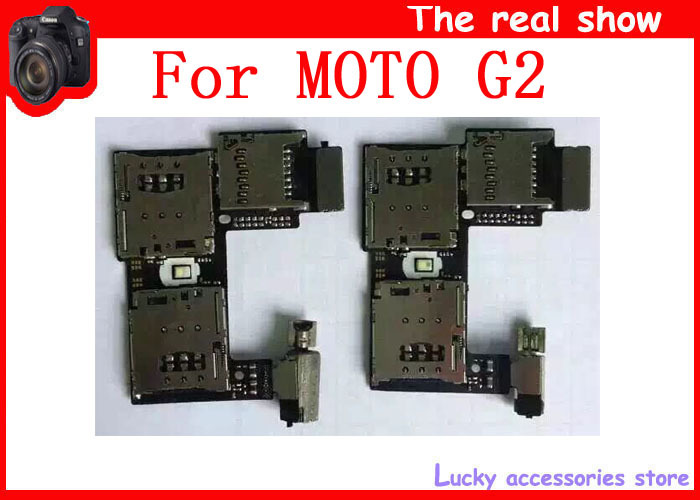 1 Motorola Moto G2 XT1068 XT1069 Sim Card Holder Micro SD Memory Socket Slot Tray flex cable - lucky feng's store