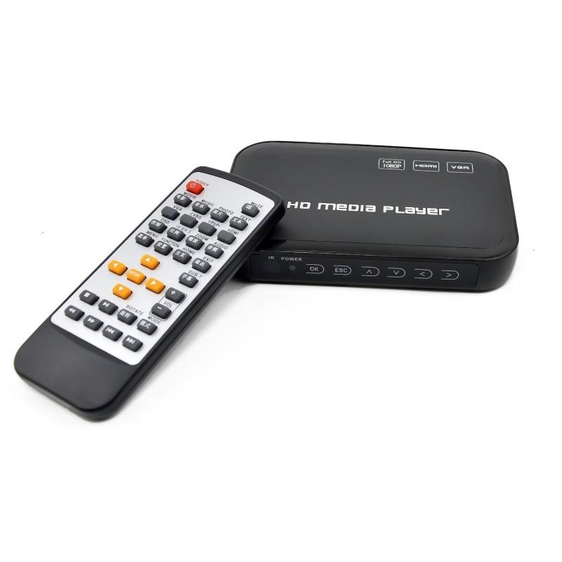 HDMI Media Player, HD601 Black Mini 1080p Full-HD Ultra HDMI Digital Media Player for MKV/RM H.264 HDD USB Drives and SD Cards(Hong Kong)