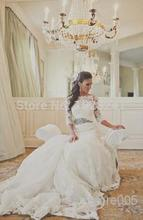 Buy 2016 Amazing White Vintage Lace Wedding Dresses Long Sleeve Mermaid Chapel Train beading Bridal gown vestido de noiva vestidos for $176.30 in AliExpress store