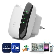 NEW EU Plug Wireless N 802.11N/B/G WPS 300Mbps WiFi Repeater Network AP Router Range Signal Expander Booster Wifi Extender (China (Mainland))