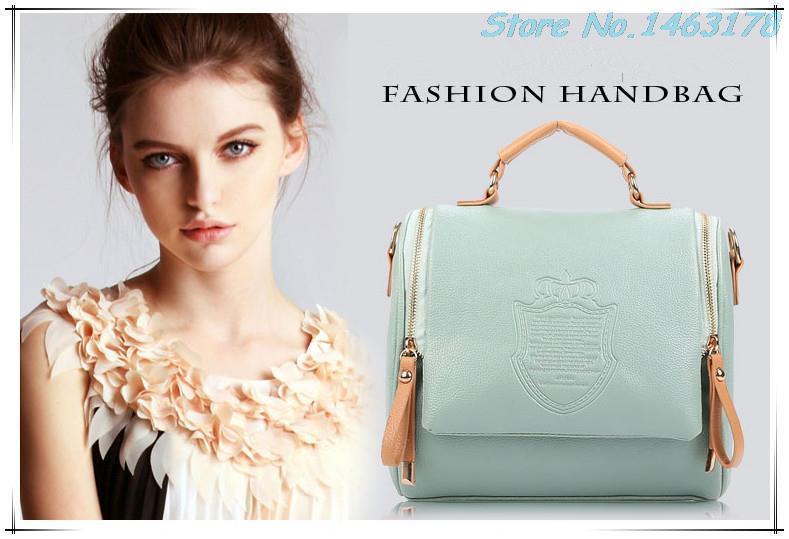 2014 new autumn fashion preppy style stamp one shoulder bags women pu leather handbags women messenger bags women handbags(China (Mainland))