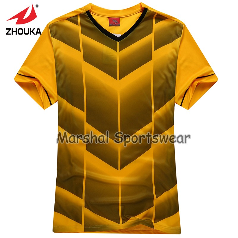 2016 Hot sale design in top quality,football jersey,kids size,in stock,orange color(China (Mainland))