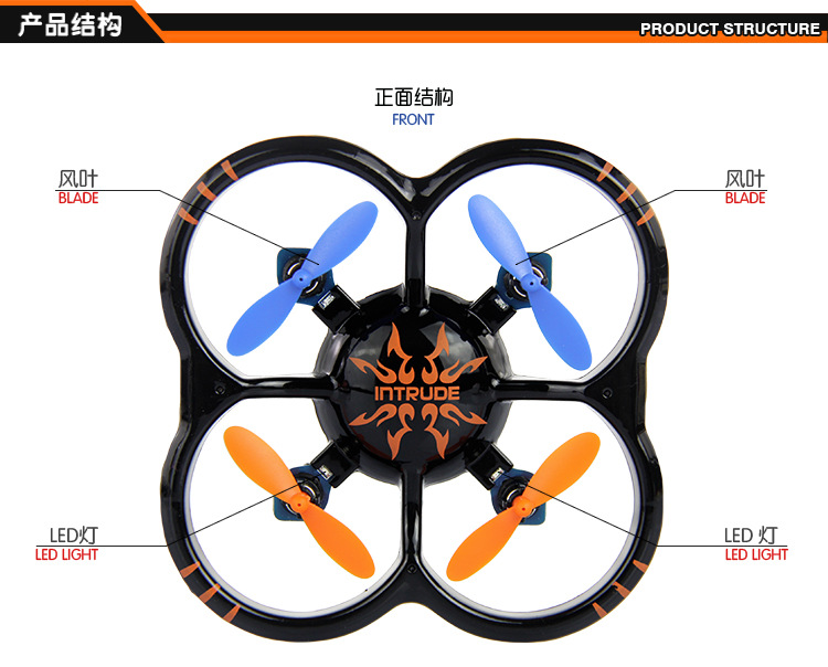U207 Mini RC Quadcopter Remote Control Helicopter Quadrocopter Flying UFO Saucer Drone New PK CX-10a cx-10 V272 X12 H107