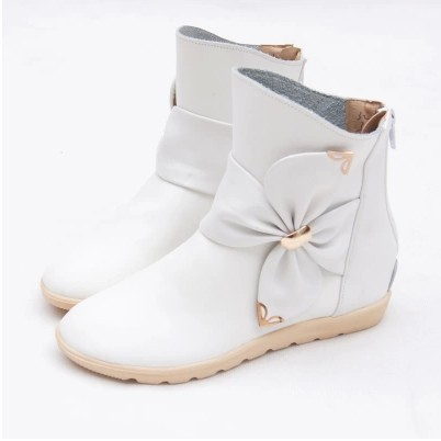 2014 new autumn and winter children's shoes ankle boots leather single boots bow Princess boys and girls shoes Y-451(China (Mainland))