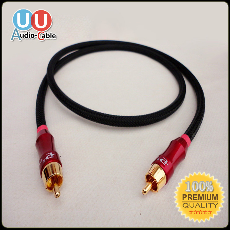 Hifi 75 Ohms Male to Male Digital Coaxial RCA Audio/Video DIY Cable(China (Mainland))
