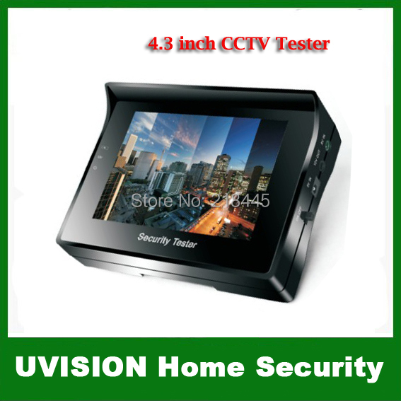 """4.3"""" inch TFT Color LCD Monitor CCTV Security CCD Camera Video Test Tester 12V OUTPUT Free shipping(China (Mainland))"""