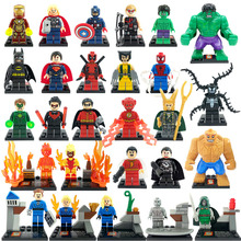 SY XINH Marvel DC Super Hero Minifigures 27pcs/lot Classic Building Blocks Sets Model Bricks Toys For Children Figures Avengers