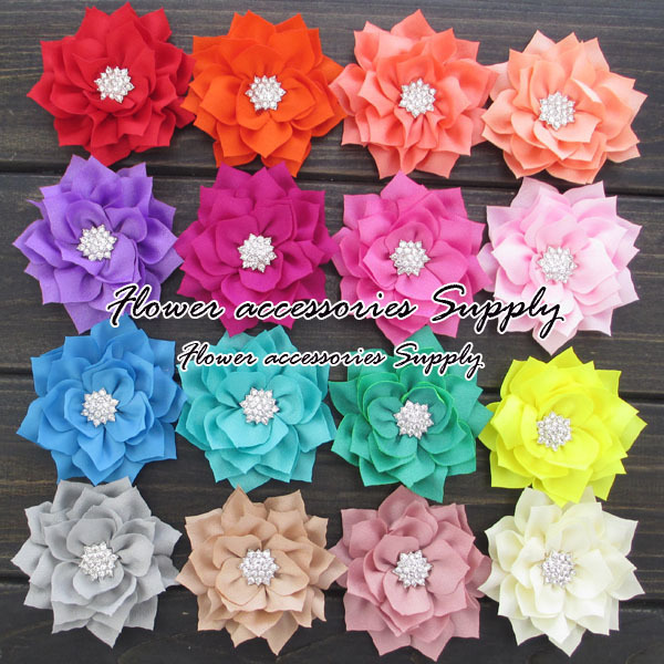 Free shipping by EMS,Big sale 3winter flower,fabric flower with sparkly rhinestone center,20 colors,artificial flower,headwear.Одежда и ак�е��уары<br><br><br>Aliexpress