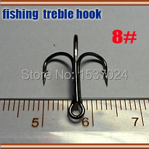 2015NEW treble hooks size:8# Smoothing high strength quantily 30pcs best steel fishing treble hooks(China (Mainland))