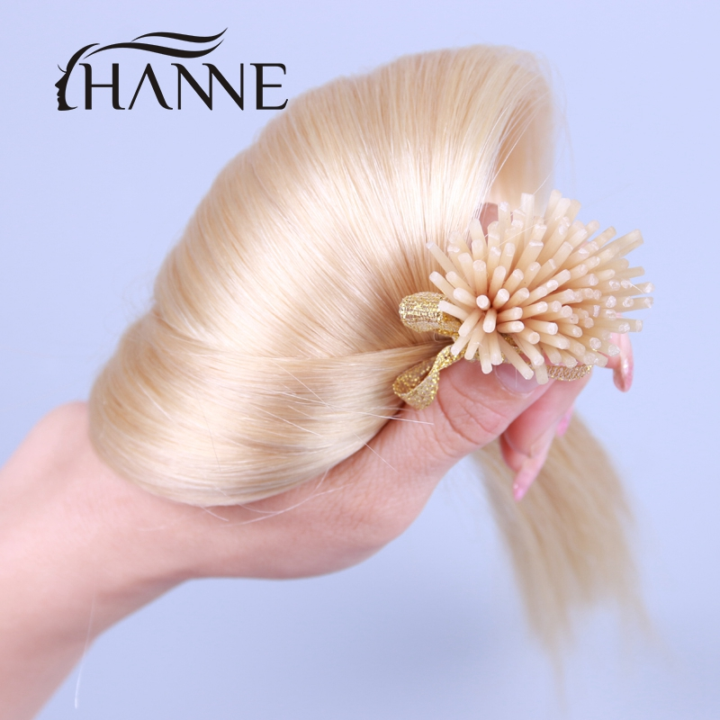 8A top 613 Blonde I tip Human Hair Extensions 100s/set 50 g 18-24 HANNE beauty fusion hair Pre bonded Keratin stick tip hair <br><br>Aliexpress