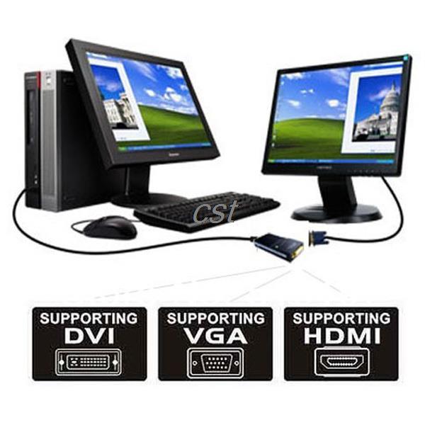 USB 2.0 UGA to DVI VGA HDMI Multi Display Dual Monitor Converter Graphic Adapter(China (Mainland))