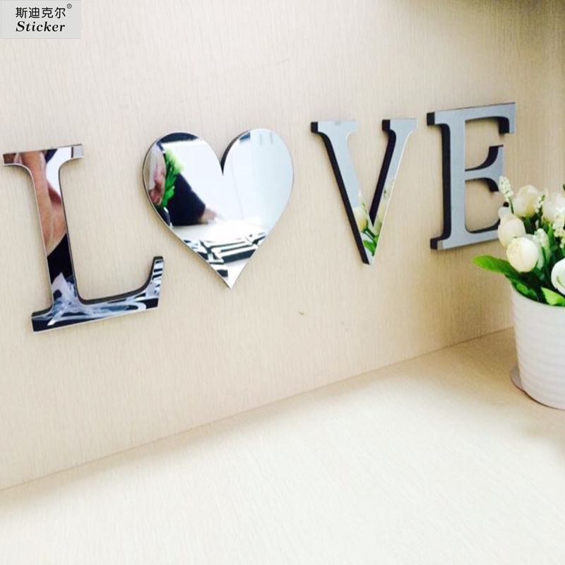 10cmx8cmx1cm thick wedding love letters home decoration Letter n home decor