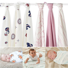 Hot Sell Aden Anais Muslin Baby Blanket Bamboo Fiber Newborn Bath Travel Towel swaddle Warp Multifunctional Quilt 120CM*120CM(China (Mainland))