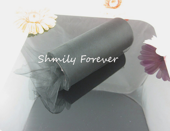Black Tulle Rolls 6inches X25 Yards Wedding Gift wrap Bow Chair Decorations( Colors you picks)