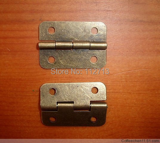 hardware for furniture Antique Hinge 30 * 21MM flat wooden wine boxes small metal hinge small hinge 0.8MM thick(China (Mainland))