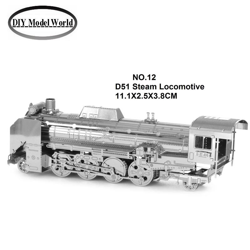 Гаджет  Japan D51 Steam Locomotive model kit laser cutting 3D puzzle DIY metalic jigsaw free shipping best birthday gifts for kids None Игрушки и Хобби