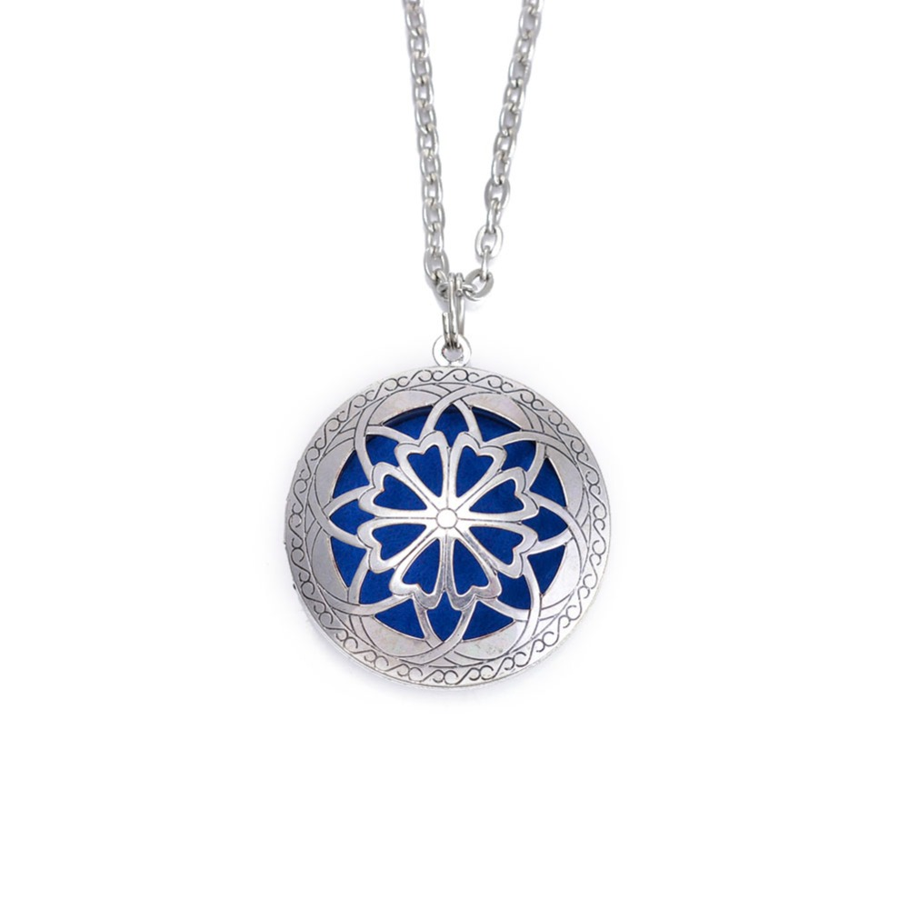 1Pc Aromatherapy Lockets Essential Oil Perfume Locket Diffuse Locket Pendant Diffuse Locket Necklaces With 72cm Chain(China (Mainland))