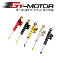 GT Motor – Steering Damper Motorcycle CNC Stabilizer Linear Reversed Safety Control For HONDA R6 FZ6 GSXR600 750 1000 Z750 Z800