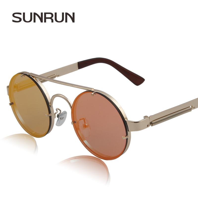 SUNRUN New Sunglasses women steampunk punk glasses Colorful fashion brand sun glasses Punk de sol gafas de sol mujer 8151(China (Mainland))