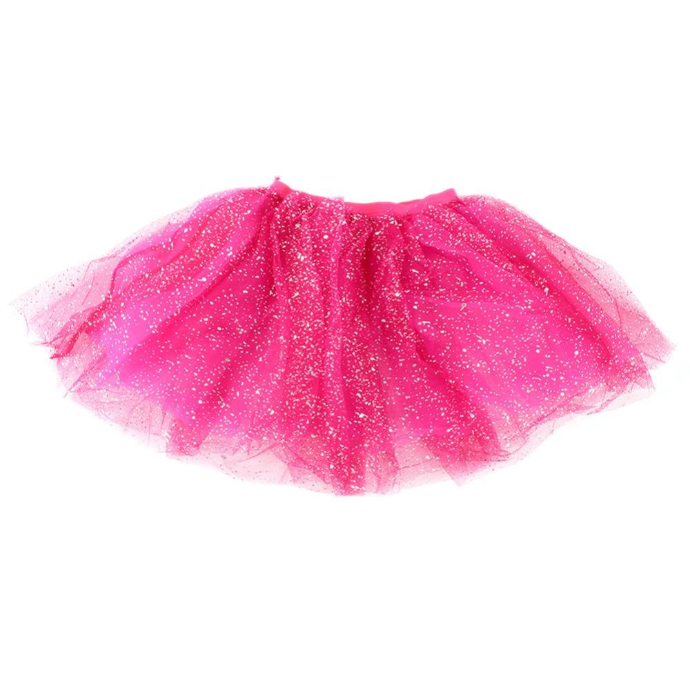 Toddler Kids Girl Princess Short Tutu Skirt Bling Tulle Party Ballet Dance Skirt