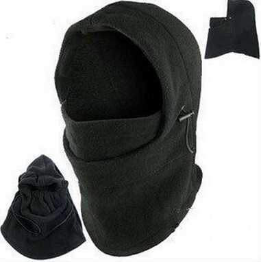 2015 Solid New Hats For Outdoor Thermal Warm 6 In 1 Balaclava Hood Swat Skiing Cap Fleece Ski Bike Scarf Wind Stopper Mask Hats(China (Mainland))