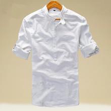 2016 Brand New Men Shirt Male Dress Shirts Men's Fashion Casual Long Sleeve Business Formal Shirt camisa social masculina linen