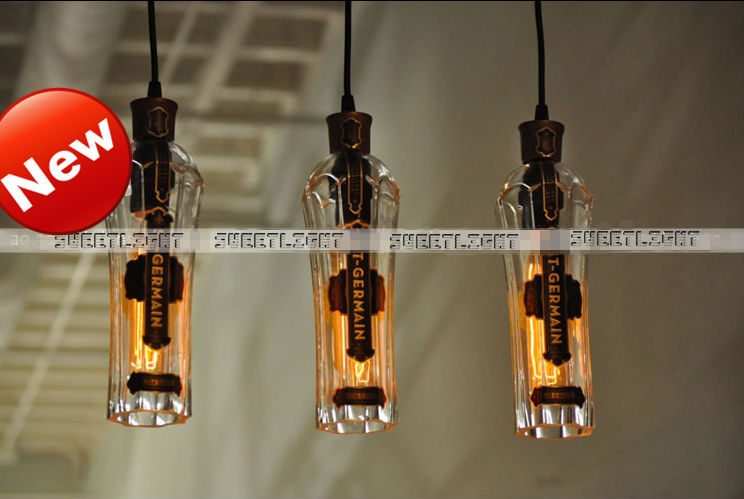 bulb led light Picture - More Detailed Picture about New creative loft E27 glass wine bottle ...