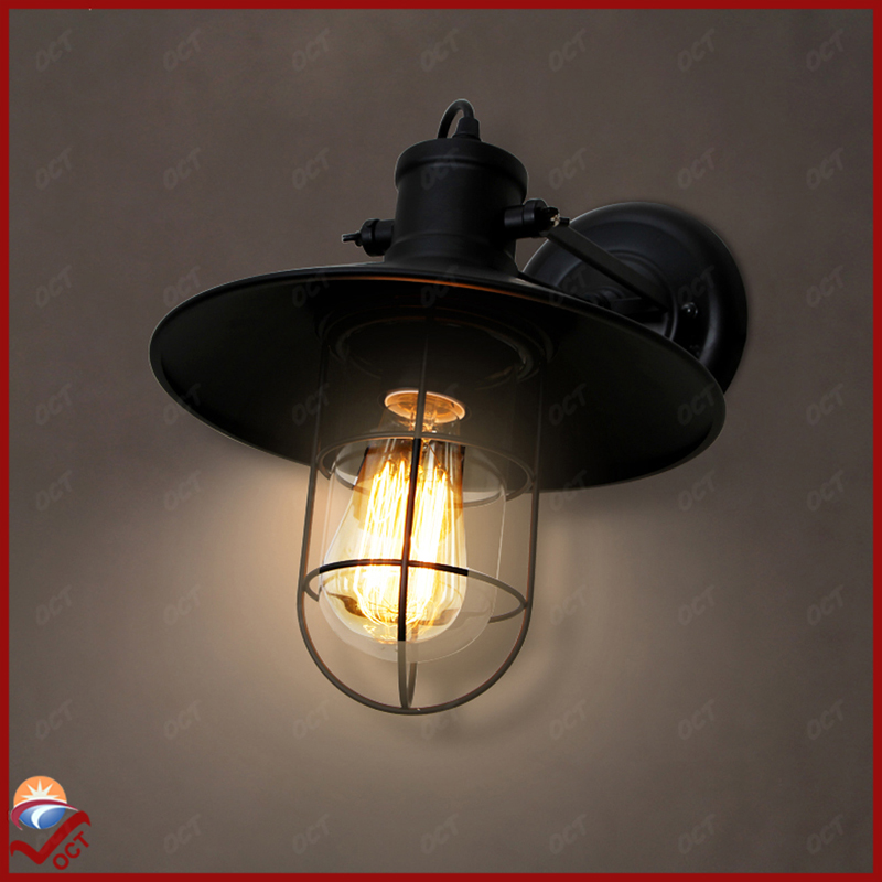 2016 Loft Vintage French Style Rustic Black Wall Lamp Nostalgic Retro Wall Lighting Iron Wall Sconce Fixture Wall Light Up Down<br><br>Aliexpress