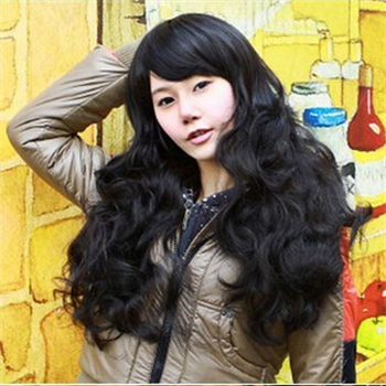 Free shipping Big promotion!!1pcs a lot long hair wigs wavy 3 color stylish synthetic material ,Womens fashion decoration<br><br>Aliexpress