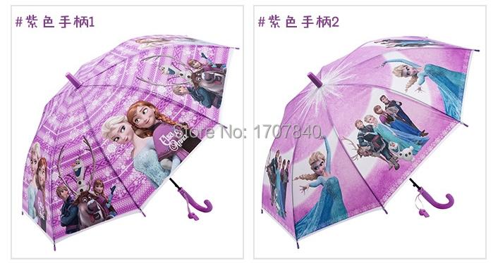 1pc kids Snow Queen long-handle umbrella/girls cartoon Olaf painting sun rain umbrella /Elsa Anna princess beach umbrella(China (Mainland))