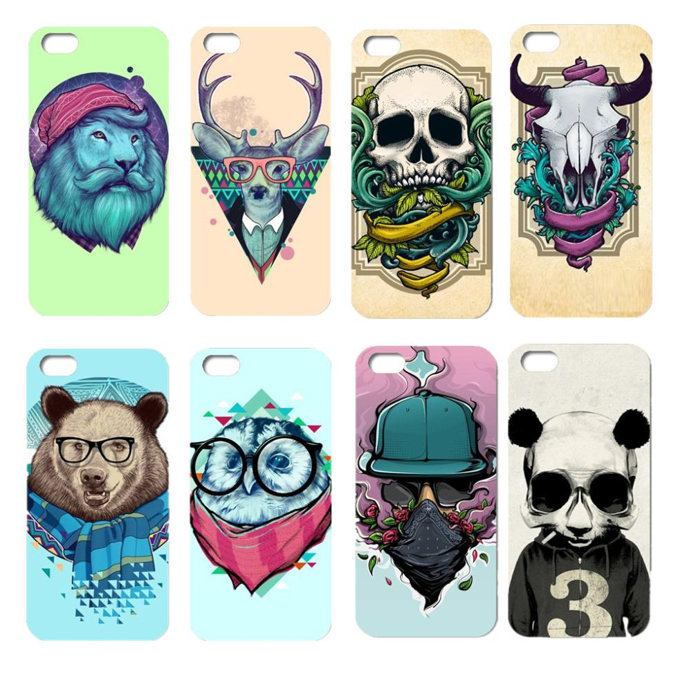 Hard Back Case for iphone 5C Cartoon animals design for 5c cover(China (Mainland))
