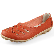 Spring Summer Loafers Women Slip On Flats Shoes Genuine Leather Moccasins Zapatos Mujer Women Flat Shoes Woman Nurse Shoes