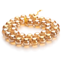 2016 New Fashion Gold Plated Nature Stone Crystal Beads Jewelry Making Accessories 6/8/10/12mm F2805 - 316SS Store store