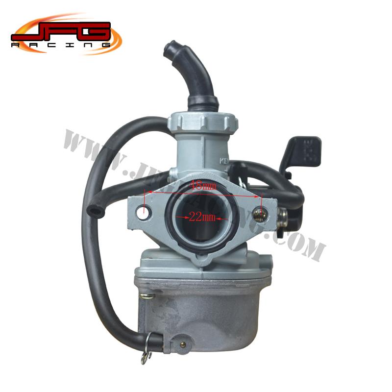 KEIHIN 22MM PZ22 Hand Choke Carburetor carb For 70cc 90cc 110cc 125cc Dirt Bike Pit Bike ATV Motorcycle Free Shipping(China (Mainland))