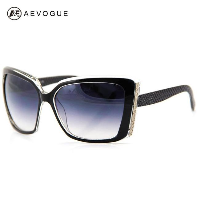 Aevogue Big кадре мода солнцезащитные очки женщины урожай качество марка негабаритных солнцезащитные очки gafas óculos де золь UV400 AE0064