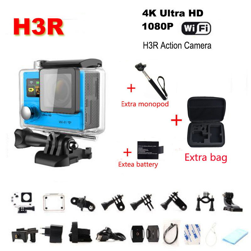 Hot Style Sports Camrae H3R Wifi 2.4G Remote Controller 4K 170 Lens Wide Angle Lemns 2 inch Waterproof Dual Screen Helmet Cam<br><br>Aliexpress