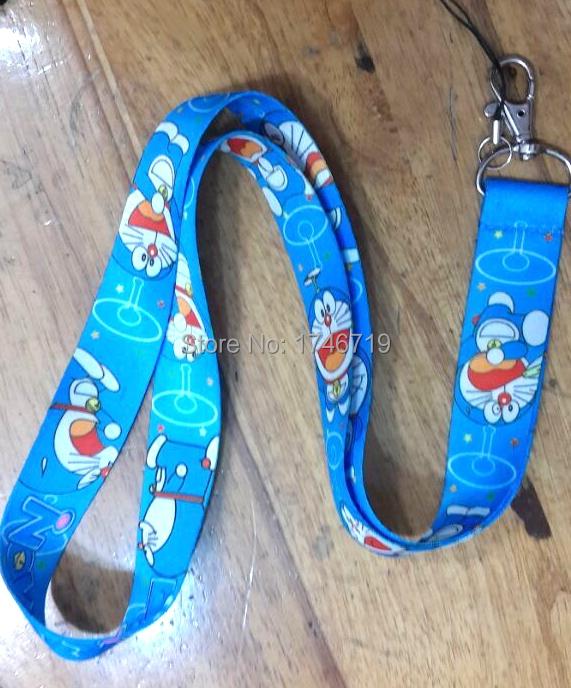 Free Shipping 20 Pcs Doraemon Blue Mobile Phone Neck Straps Neck Strap Keys Camera ID Card Lanyard GS03345(China (Mainland))