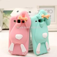 С логотипом 3D смазливая мультфильм чехол для Samsung Galaxy S3 i9300 для iphone 4 4S кролик резиновый мягкий силиконовый чехол