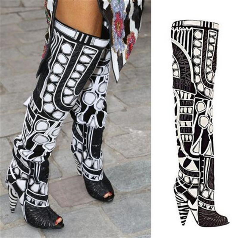 Online Buy Wholesale knee high gladiator heels rihanna from China